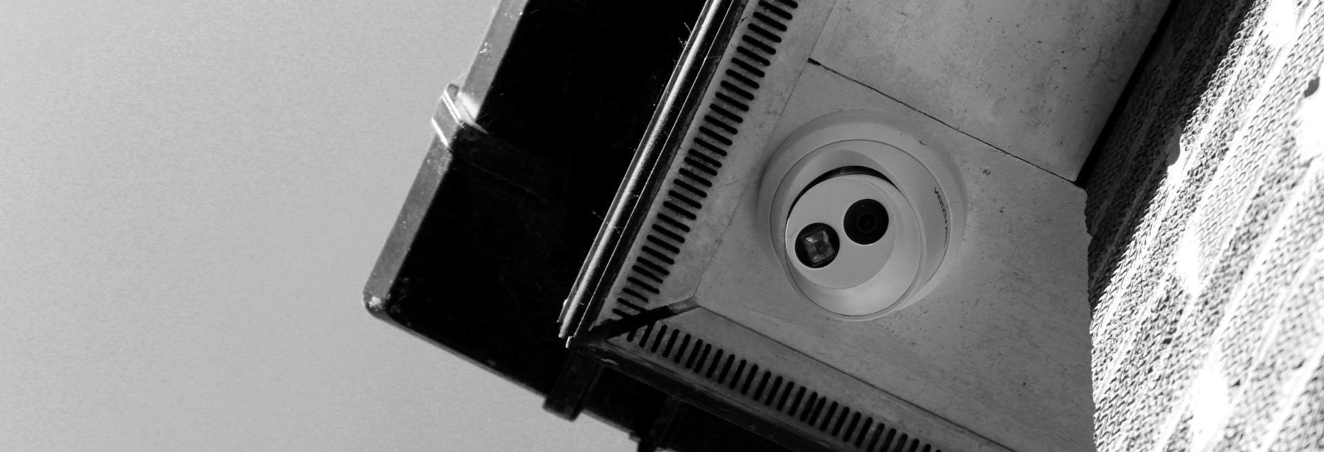 CCTV camera on home slide - minder security